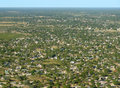 Maun in botswana aerial view of a town africa Royalty Free Stock Photo