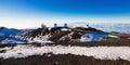 Mauna kea summit telescopes on the of hawaii Stock Image