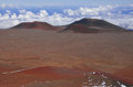 Mauna kea summit view hawaii martian like landscape Royalty Free Stock Image