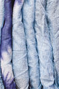 Mauritianian cotton folded blue mauritanian as a background image Stock Images