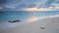 Mauritius beach with sun rise Royalty Free Stock Photo