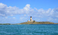 Mauritius picturesque lighthouse island in mahebourg aera the Royalty Free Stock Photo