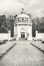 Mausoleum of The Andrassy family near castle Krasna Horka, color Royalty Free Stock Photo