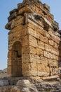 Mausoleum in the necropolis outside hierapolis turkey Royalty Free Stock Photos