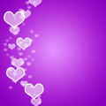 Mauve Hearts Bokeh Background Royalty Free Stock Image