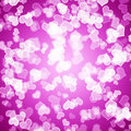 Mauve Hearts Bokeh Background Showing Love Stock Images