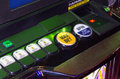 Max bet button in an slots machine gaming and luck concept Royalty Free Stock Photos