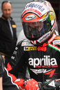Max Biaggi Aprilia RSV4 Aprilia Racing Team Stock Images