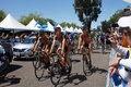 Max jenkins of kendra cycling team at the start stage the amgen tour california in escondido california Stock Images