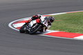 Max neukirchner on ducati panigale r mr racing superbike wsbk riding with at world championship imola Stock Photography