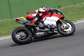 Max neukirchner on ducati panigale r mr racing superbike wsbk riding with at world championship imola Royalty Free Stock Image
