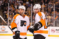Max Talbot and Andreas Nodl Royalty Free Stock Images