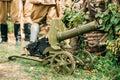 Maxim`s Machine Gun Model 1910 30 On A Wheeled Vladimirov`s Moun