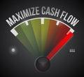 Maximize cash flow mark illustration design Royalty Free Stock Photo