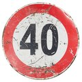 maximum speed sign isolated over white Royalty Free Stock Photo