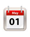 May Calender Royalty Free Stock Photo
