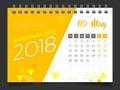 May 2018. Desk Calendar 2018