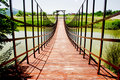 Mały drewniany most Zdjęcia Stock