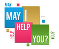 May I Help You Colorful Squares Text Royalty Free Stock Photo