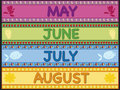 May june july august Royalty Free Stock Photo