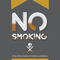 May 31st World No Tobacco Day poster. No smoking sign in cigarette letters. Icons.
