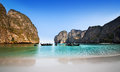 Maya bay or ao maya krabi the most beautiful beach in thailand mahya is popular for diving and movie was filmed there Stock Images