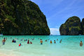 Maya bay thailand the in ko island phi phi ley Stock Image