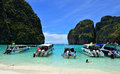 Maya bay thailand the in ko island phi phi ley Royalty Free Stock Image
