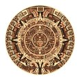 Maya calendar of Mayan or Aztec vector hieroglyph signs and symbols Royalty Free Stock Photo