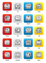 Maya calendar seals Tzolkin Vector buttons Stock Images