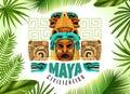 Maya Civilization Horizontal Poster Royalty Free Stock Photo