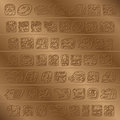 Maya Glyph Royalty Free Stock Photo