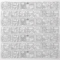 Maya glyphs background  Royalty Free Stock Photography