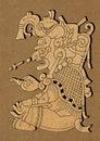 Maya - illustration from Mayan Dresden Codex Royalty Free Stock Photo