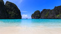 Maya island sea andaman krabi thailand at Royalty Free Stock Photography