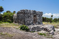 Maya Temple Facade in Tulum Mexico Royalty Free Stock Photography
