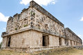 Mayan architectural details on the governors palace in uxmal rich ruin of governor s yucatan mexico Stock Image