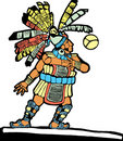 Mayan Ballplayer #1 Royalty Free Stock Photo