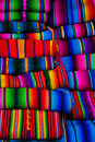 Mayan blankets textile designs on the market in Chichicastenango Stock Images