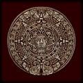 Mayan Calendar Stone Texture
