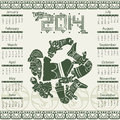 Mayan calendar vector in style Royalty Free Stock Photos