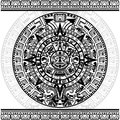 Mayan calendar vector of on white background Stock Images