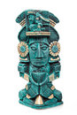 Mayan deity statue from Mexico isolated Stock Images