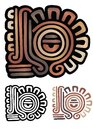 Mayan glyph Royalty Free Stock Photo