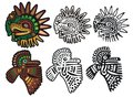 Mayan glyphs, Eagle Gods Royalty Free Stock Photo