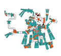 Mayan god of rain Tlaloc Royalty Free Stock Photo