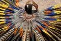 Mayan headdress closeup traditional handmade feather Royalty Free Stock Photos