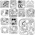 Mayan hieroglyphs Royalty Free Stock Images