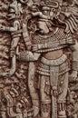 Mayan Indian Warrior Royalty Free Stock Photo