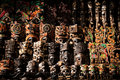 Mayan mask set of in yucatan mexico Royalty Free Stock Photography